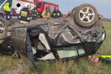 Samochód Opel Corsa, który brał udział w zdarzeniu