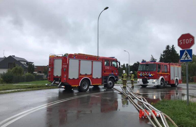 Pojazdy pożarnicze podczas działań